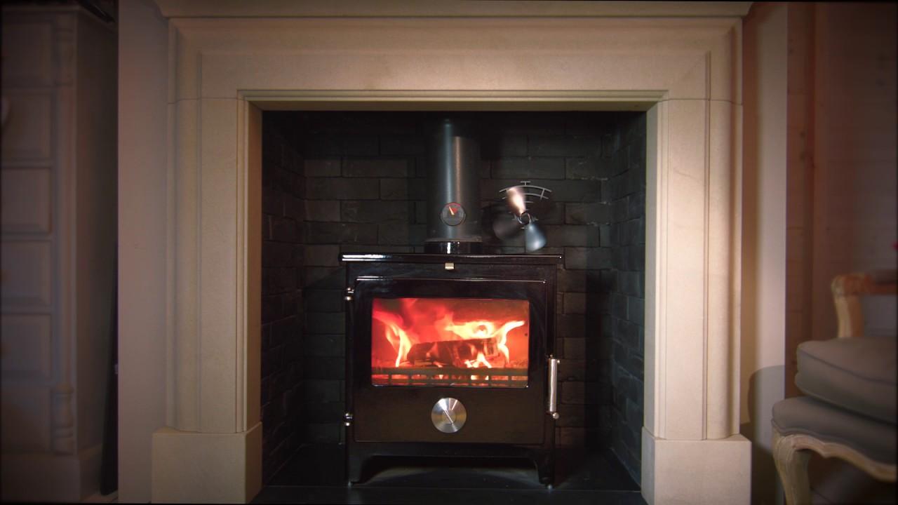Valiant Fireside Accessories Premium 4 Heat Powered Stove Fan