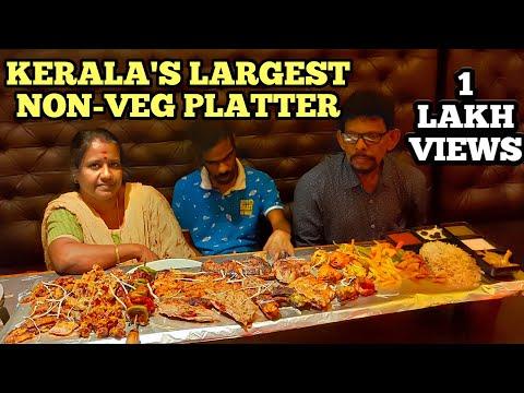 EATING KERALA'S BIGGEST NON-VEG PLATTER @ Zaatar Palarivattom, Kochi