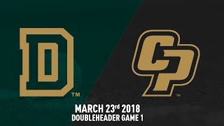 Cal Poly vs. Dartmouth, Baseball Highlights -- March 23, 2018 Doubleheader Game 1