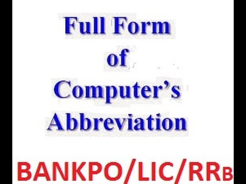 COMPUTER ABBREVIATIONS PART1