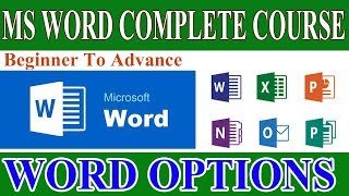 Word Options in MS Word- How to Customize Ms Word Settings in Urdu Hindi- Create Shortcuts in Word