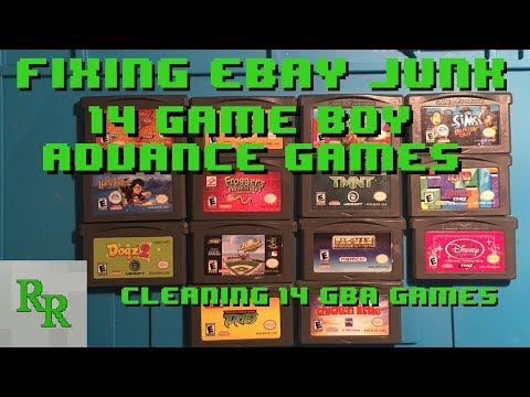 Cleaning 14 Gameboy Advance Games - Fixing eBay Junk - Junk Lot FAIL!
