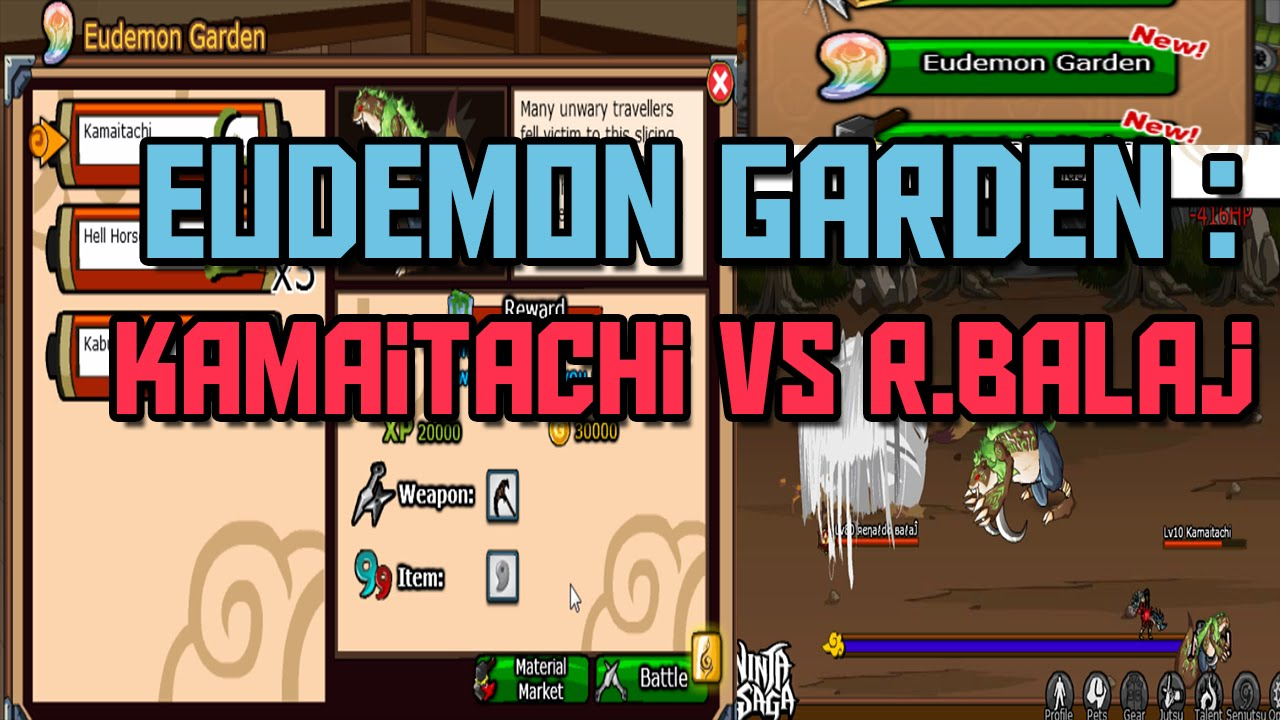Ninja Saga Eudemon Garden Kamaitachi vs RBalaj 2015 YouTube