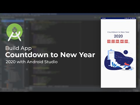 Build A Countdown To New Year 2020 App In Android Studio | Using Countdown View Library