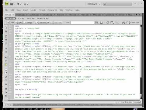 ASP Classic Lessons #8 - Error 800a0409 Unterminated string constant
