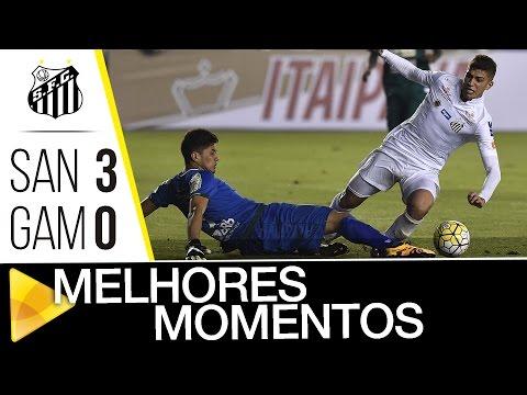 Santos 3 x 0 Gama | MELHORES MOMENTOS | Copa do Brasil (27/07/16)