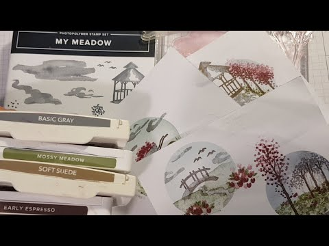 🔴#stampinup My Meadow X4 Ideas, 6x Colours, 1x Stampset