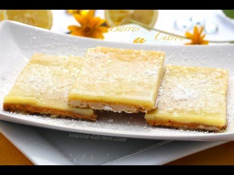 Lemon bars / Recette barres au citron-Sousoukitchen