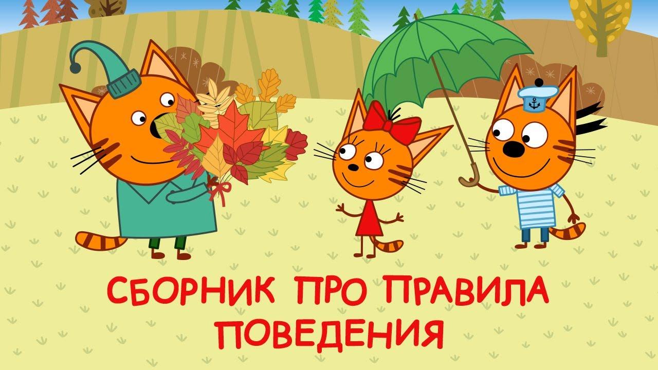 Три Кота   Сборник про правила поведения   Мультфильмы для детей 😂❤️