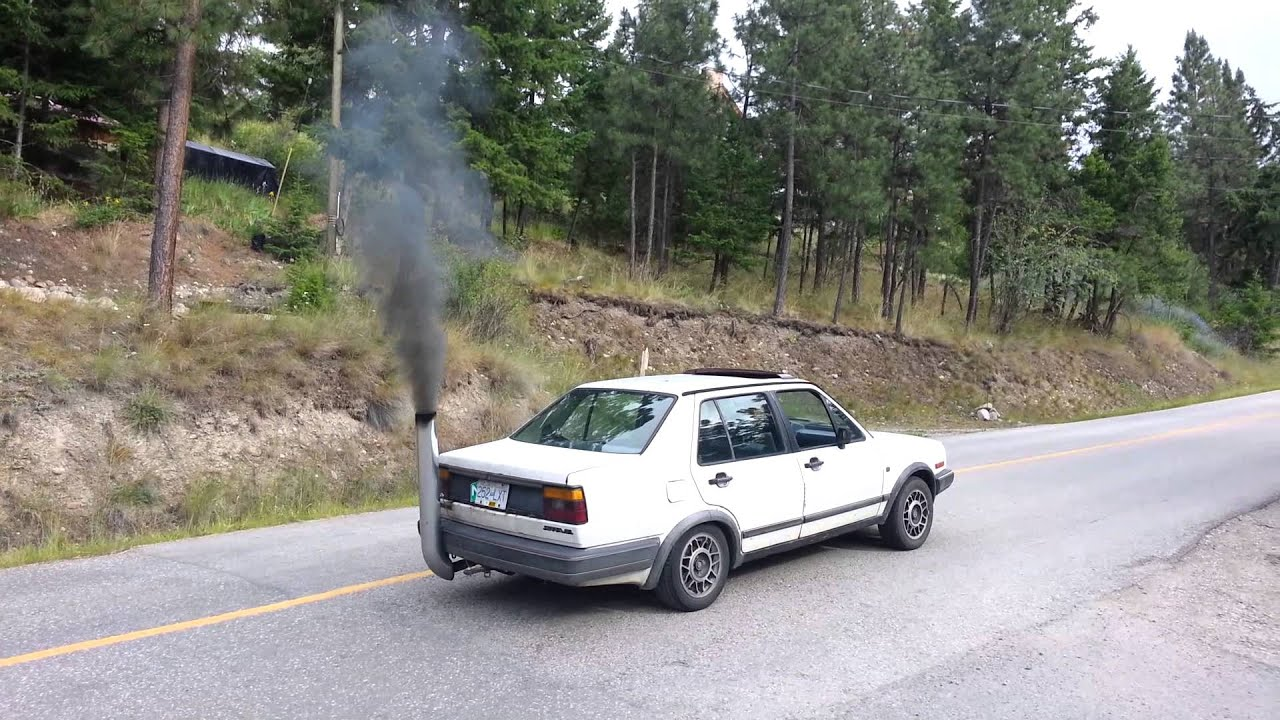 Jetta With Stack Rolling Coal