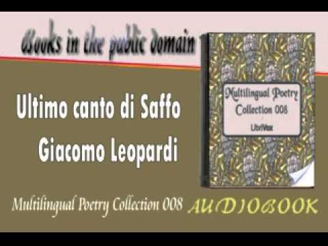 Ultimo canto di Saffo Giacomo Leopardi Audiobook