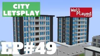 Minecraft Luxury Apartment Buildings! City Letsplay Ep49