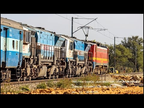 TRACTION CHANGE - WAP4's takeover from EMD's on SBC-GTL line : Indian Railways !!