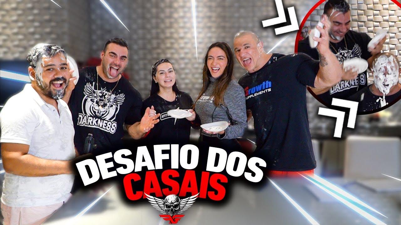 DESAFIO TORTA NA CARA - RAFAEL BRANDÃO E KAREN VS FABIO GIGA E JÚLIA