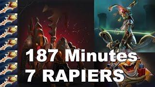 187 min 7 Rapiers Techies-Megacreeps Game Dota 2
