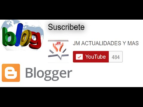 Boton de suscripcion del canal de Youtube en tu blog o blogger | Como instalar