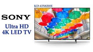 Sony Bravia KD-43X8200E 43 inch 4K UHD LED Smart TV | TRILUMINOS Display, 4 X 4 Sound System