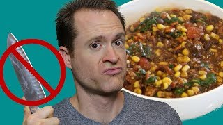 Easy Vegan Recipes - No Chop Corn Bean Stew - Oil Free - SOS Free