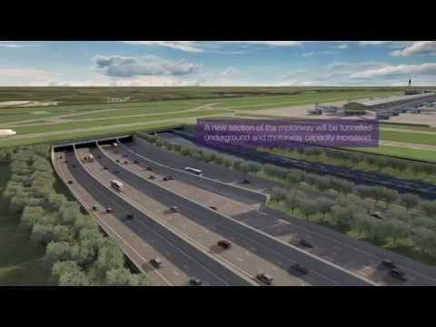 Heathrow unveils new CGI of improved 14-lane M25 with expansion