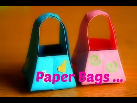 Paper Basket With Handle Diy Paper Crafts Origami Youtube