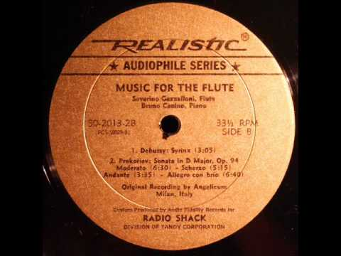 Prokofiev / Gazzelloni / Canino, 1960s: Sonata for Flute and Piano in D major, Op. 94