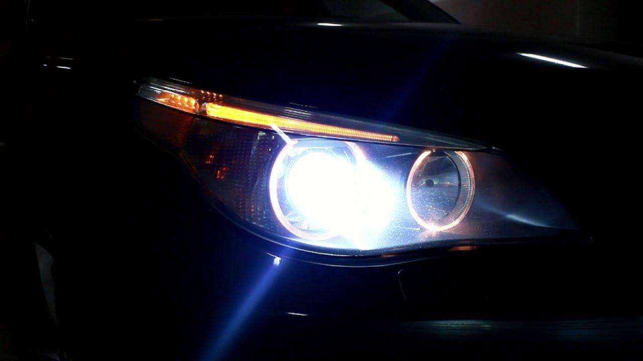 Bmw E60 530 Xi Bi Xenon Adaptive Headlights Youtube