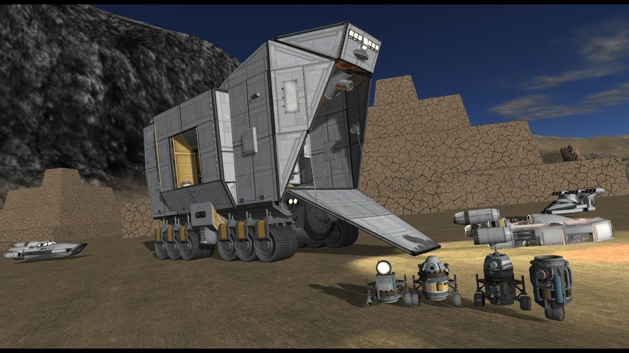 Star Wars Sand Crawler in Stock Kerbal Space Program