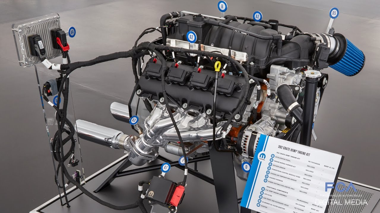 SEMA 2016: Mopar Crate HEMI Engine Kits - YouTube