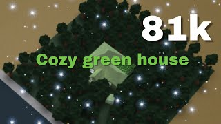 Cozy green house 81k (with car and tree) Roblox Bloxburg. House tour