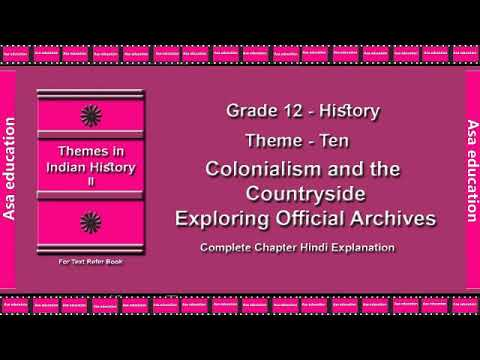 Ch 10 1 Colonialism and the Countryside (History, Grade 12, CBSE) The  LandMark - Hindi Exp  Series