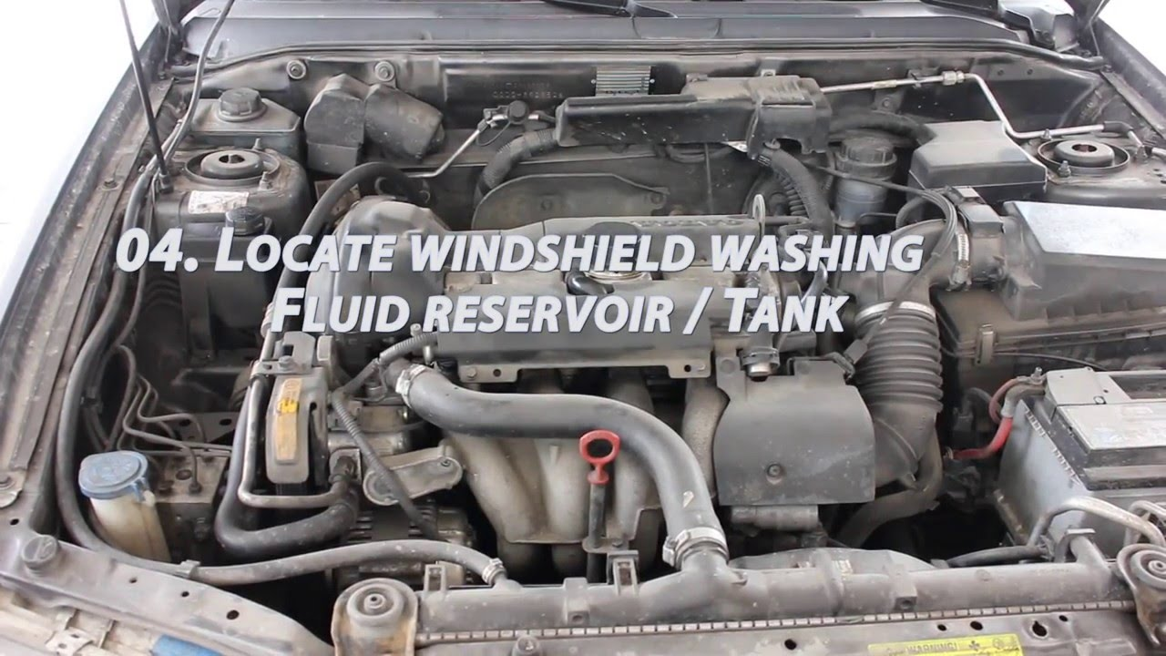 How To Refill Windshield Washer Fluid In A Volvo V40 2003