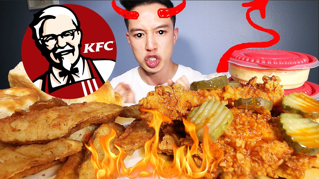 what the HELL did u call me?!? • mukbang • storytime • KFC HOT HONEY CHICKEN