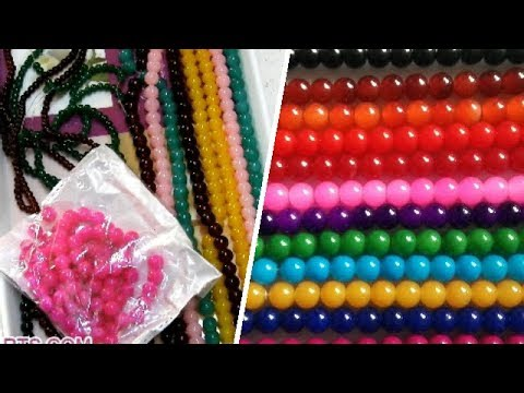 Materials: Glass Beads Colours and Sizes for Handmade Jewelry