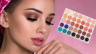 Brown Smokey Eye Makeup Tutorial   Jaclyn Hill x Morphe Palette