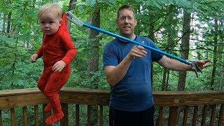 Brat Grabber 2000 Review - Best PARENTING Gear!! & Family Fishing Trip VLOG