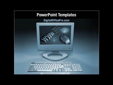 Desktop Computer Powerpoint Template Backgrounds Digitalofficepro