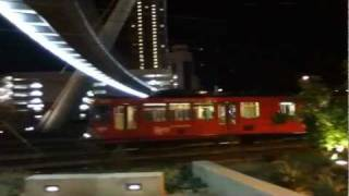 New San Diego Trolley In Action Downtown