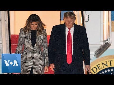 President Donald Trump Returns to US Following NATO Summit in UK