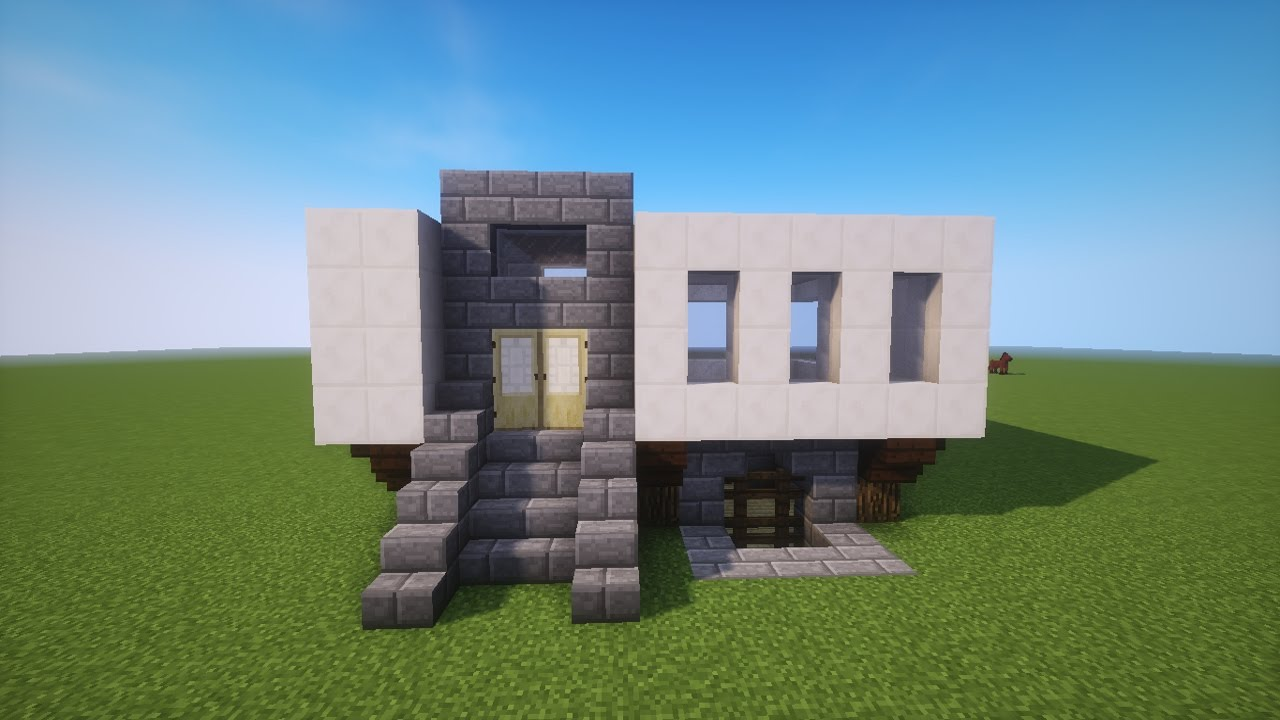 Haus bauen modern  MINECRAFT MODERN/ MEDIVAL HAUS bauen TUTORIAL [german] - YouTube