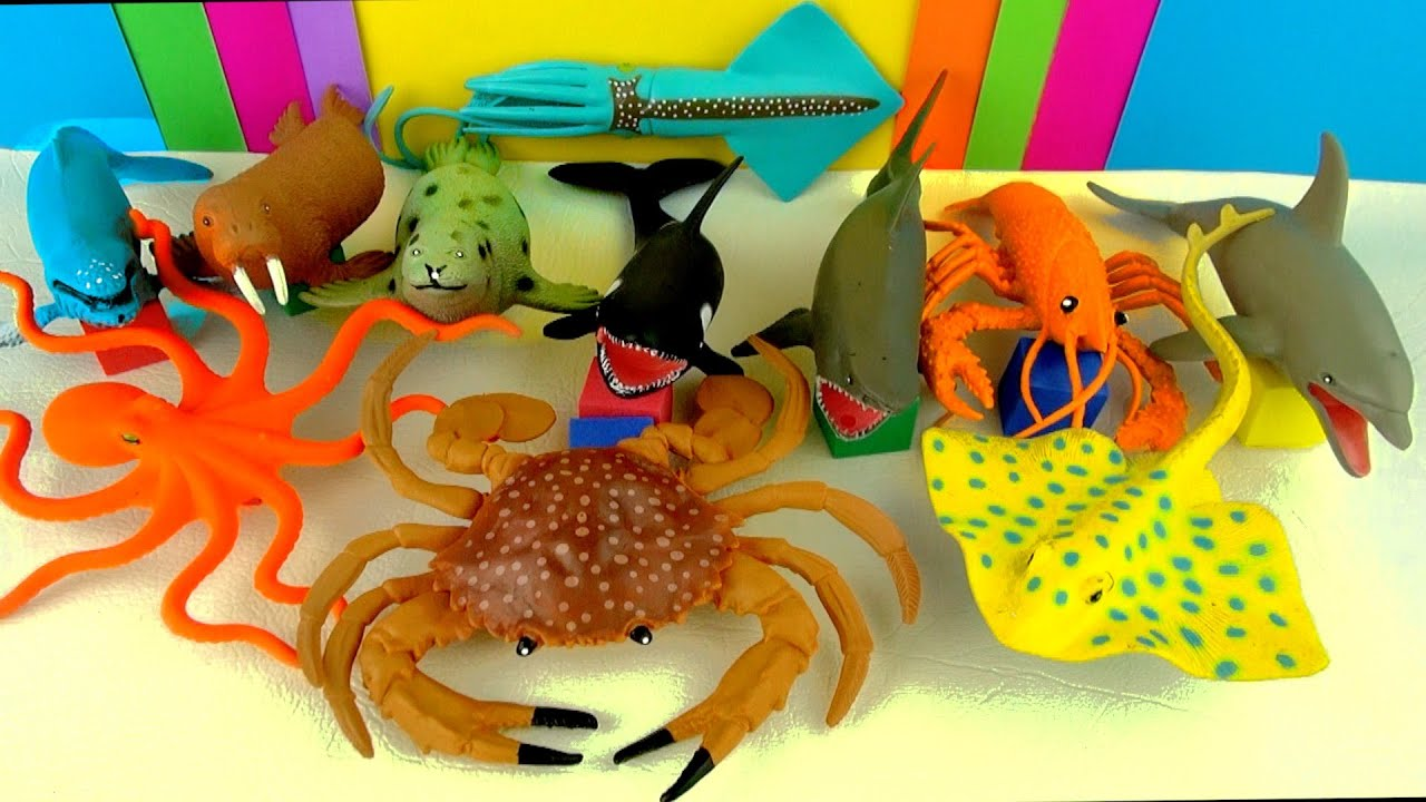 Sea Creature Toys : Sharks whales fish awesome toy collection kids sea