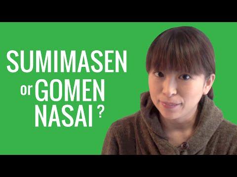 Ask a Japanese Teacher! Should I say SUMIMASEN or GOMEN NASAI?