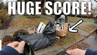 Lets Go GARBAGE PICKING - Finding FREE Stuff Left for Trash! Ep. 98