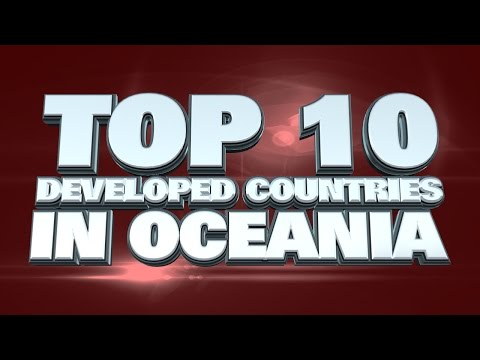 10 most developed countries in Oceania 2014