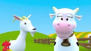 На ферме Песенка мультик про голоса животных.Домашние животные для детей