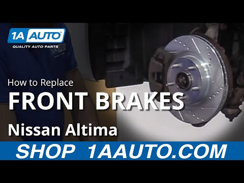How to Replace Front Brakes 07-13 Nissan Altima