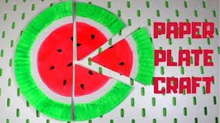 Paper Plate Watermelon | Paper Plate Crafts for Kids