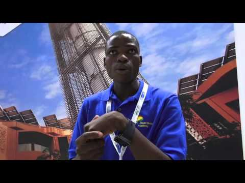 Interviewing Dikirani Thaulo, of Zayed Solar Academy in Malawi