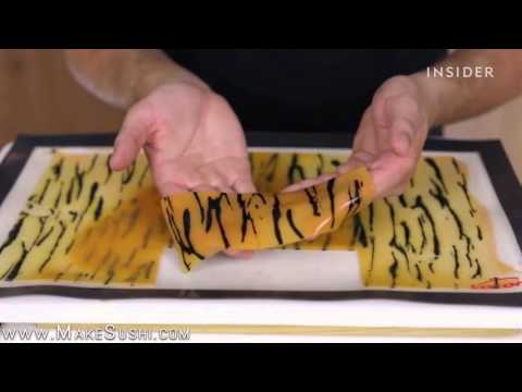How to make sushi that looks like a tiger