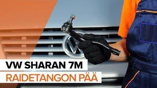 Kuinka vaihtaa raidetangon pää VW SHARAN 7M -merkkiseen autoon OHJEVIDEO   AUTODOC