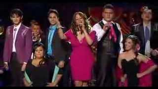 Jenni Rivera y equipo Jenni cantando Basta Ya en La Voz Mexico